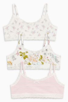 Ditsy Crop Tops Three Pack (5-16yrs)