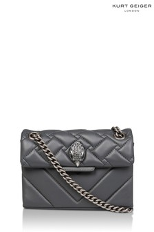 Kurt Geiger London Grey Leather Mini Kensington X Bag