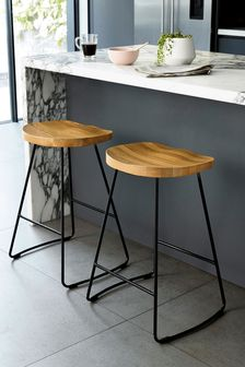 Set Of 2 Rowen Light Stools