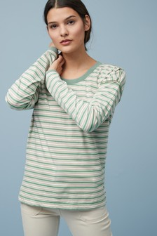 Washed Slouchy Long Sleeve Top