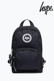 Hype. Black Cross Body Backpack