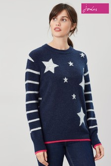 Joules Chantelle Star Intarsia Jumper
