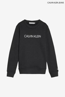 Calvin Klein Black Jeans Institutional Logo Sweatshirt