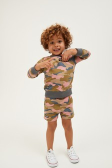 Jersey Crew And Shorts Co-ord Set (3mths-7yrs)
