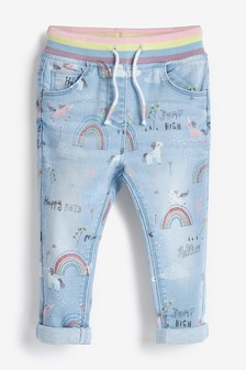Character Print Pull-On Jeans (3mths-7yrs)