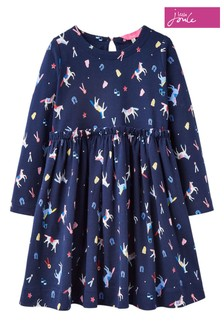Joules Blue Hampton Frill Dress