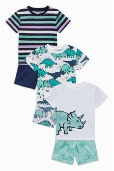 Dino Pyjamas Three Pack (9mths-8yrs)