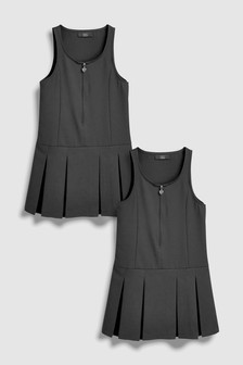 Zip Front Pinafore Two Pack (3-14yrs)