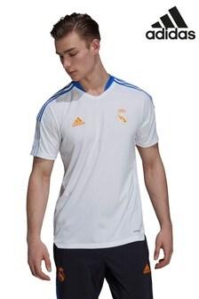 adidas White Real Madrid Training T-Shirt