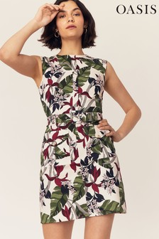 Oasis Natural Bali Floral Shift Dress