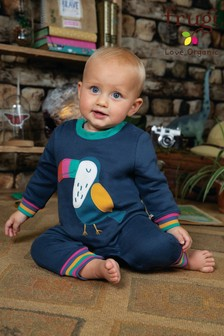 Frugi Organic Cosy Romper With A Toucan Appliqué
