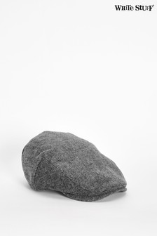 White Stuff Grey James Wool Flat Cap