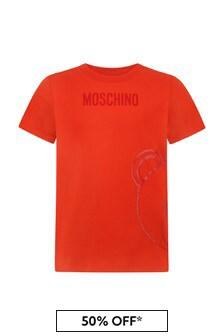 Kids Red Cotton T-Shirt