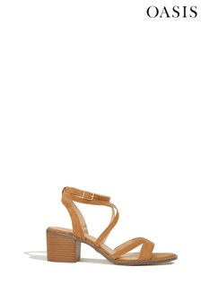 Oasis Tan Ava Strappy Heeled Sandal