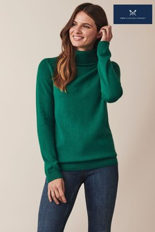 Crew Clothing Green Roll Neck Jumper