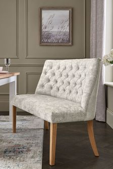 Wolton Button Highback Bench With Natural Legs