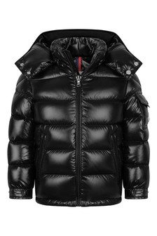 Boys Black Down Padded New Maya Jacket