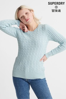 Superdry Turquoise Croyde Knit Jumper