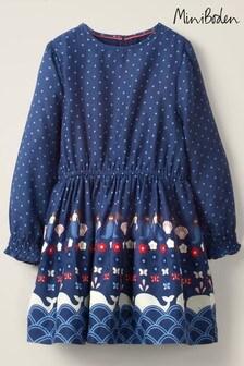 Boden Navy Maritime Printed Dress