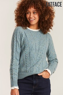 FatFace Blue Bobble Chevron Jumper