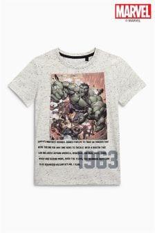 T-Shirt mit Avengers-Flockdruck (3-16yrs)