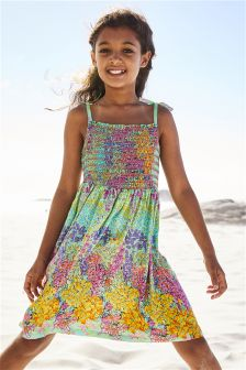 Floral Smocked Dress (3-16yrs)