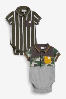 2 Pack Poloshirt Bodysuits (0mths-3yrs)