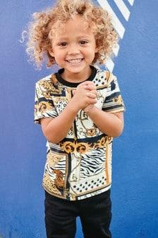 Short Sleeve Tiger Printed T-Shirt (3mths-7yrs)
