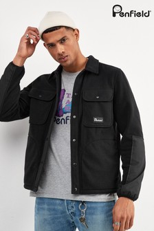 Penfield Black Falkirk Fleece Overshirt