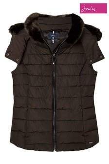 Joules Brown Merrium Elasticated Back Gilet