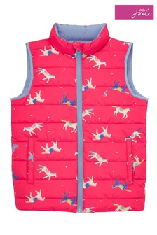 Joules Pink Flip It Reversible Gilet