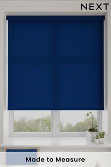 Asher Blueberry Blue Made To Measure Light Filtering Roller Blind