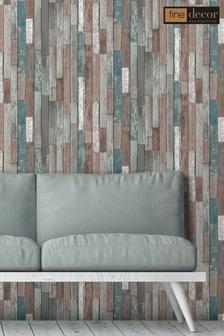 Distinctive 4 Wood Reclaim Wallpaper by Fine Décor