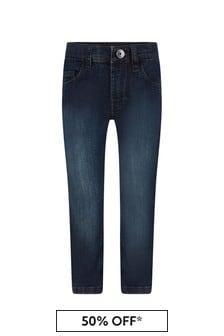 Boys Blue Stone Washed Denim Regular Fit Jeans