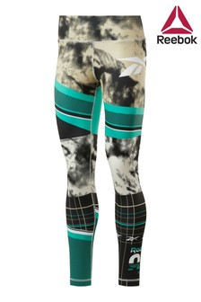 Reebok Green Workout Ready Printed Leggings