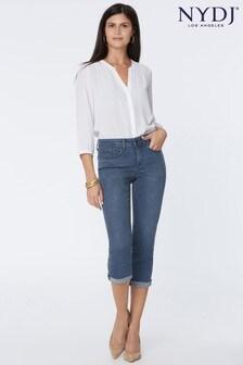 NYDJ Chloe Skinny Capri Jeans - Market (Mid Blue Denim)