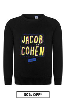Boys Black Logo Sweater