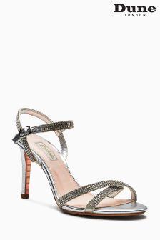 Dune Silver Madelenna Diamanté Sandal