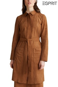 Esprit Brown Long Belted Cardigan