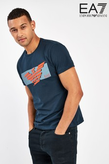 חולצת טיA7 עם לוגו נשר של Emporio Armani