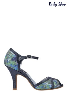 Ruby Shoo Blue Eliza Peep Toe High Heeled Sandals