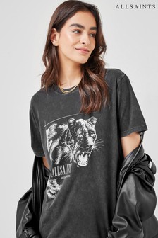 AllSaints Black Panthera Boyfriend T-Shirt