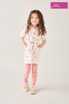 Joules Pink Unicorn And Rainbow Leggings