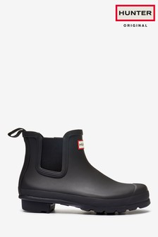 Hunter Black Original Chelsea Boots