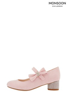 Monsoon Penny Diamanté Bow Shoes