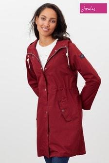 Joules Purple Rainmoore Plain Waterproof Raincoat