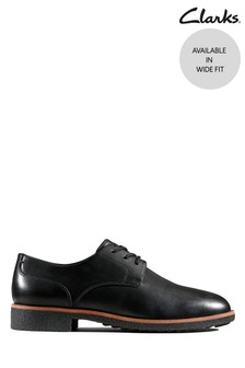 Clarks Black Griffin Lane Shoes