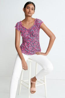 Short Sleeve Bardot Top