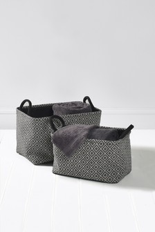 Set of 2 Geometric Baskets