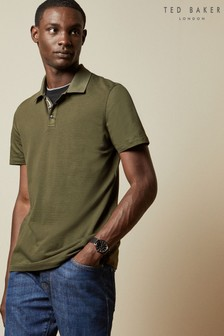 Ted Baker Navy Texture Poloshirt